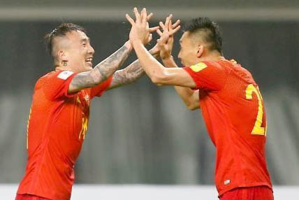 国足世预赛1-0力克韩国队取首胜