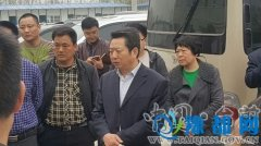 县主要领导陪同市领导郭奎立、杜跃武调研督导范台梁高速进度