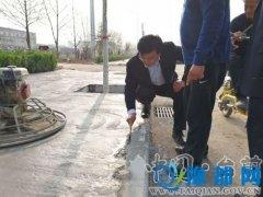 县长王俊海调研指导凤台大道建设提升工作