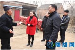 外商投资服务中心党组春节前到帮扶贫困村慰问生活困难群众