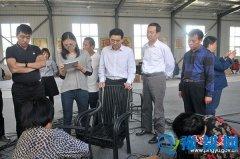杭州中艺实业股份有限公司董事长李韧一行到平舆县考察休闲生态家居产业