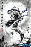 《忍者神龟2》定制水墨风海报发布 江湖神龟竟无违和感?