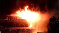 河南南阳体育馆突发大火 一天前刚做消防知识培训