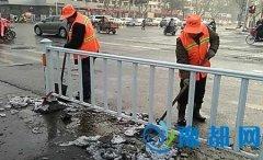 区环卫局提前部署清雪工作 雪后达到路面无积水