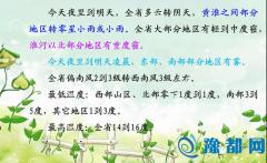 河南明天部分地区有小雨 北部最低气温-1℃