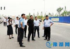 区长马军察看轨道交通与道路基础设施建设征迁情况