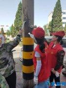 我区区委宣传部组织志愿者到分包路段开展志愿服务活动