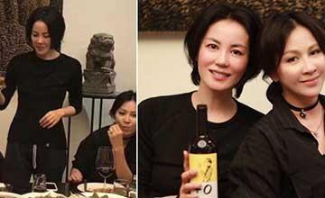 王菲刘嘉玲饮酒聚会 天后的酒量相当好