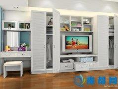 小户型也能拥有大空间 衣柜内嵌电视柜