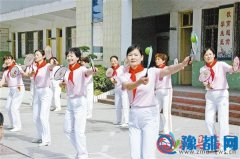 柔力球舞出校园文化新亮点