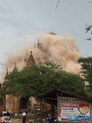 缅甸强震已造成3死1伤 68座佛塔遭到损毁(组图)