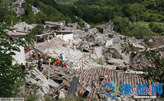 报道称,距离震中约150公里的首都罗马也有长达30秒的明显震感。地震引发最少60次余震,震中周边多座历史名城和古镇遭受严重破坏。