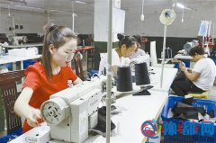 遂平县玉山镇悦庄村吸收全村80名留守妇女就业