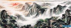 家里挂瀑布山水画好吗 瀑布画挂在什么位置好