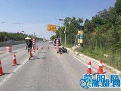市交通运输局地管所排查维修道路限宽设施