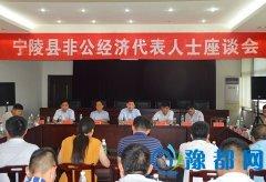 宁陵县非公经济代表人士座谈会召开