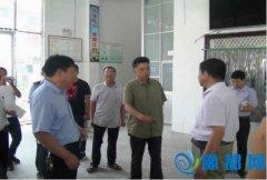 西平县人民政府副县长蔡新亭 督导学校食堂食品安全监管工作