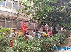"""三湾街社区党支部在""""党员活动日""""开展环境卫生整治活动"""