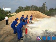 中石化泌阳石油分公司开展消防实操演习