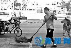 河南准博士小伙帮父母扫马路 父亲表示帮忙很正常