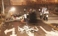 福全环岛车祸:出事的是一辆电动车