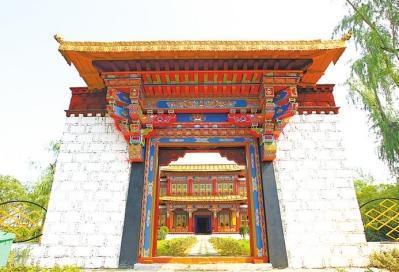 郑州园博园工程进入收尾阶段 能看纯正西藏建筑