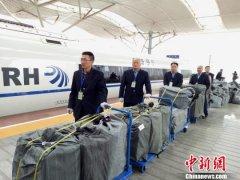 """高铁快运集中秀""""双11"""" 系中国铁路运输首次(图)"""