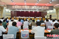 平舆县秸秆禁烧暨三秋生产工作会议召开