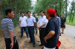 区长徐光华督导防汛、沙河国家湿地公园(郾城段)建设工作
