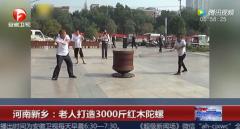 新乡任性大爷花十几万 造3000斤超级红木陀螺