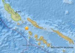所罗门群岛海域发生5.2级地震 震源深度10公里