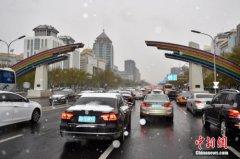 北京初雪首个早高峰:二环内严重拥堵 多航班取消