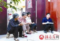 泌阳县盘古乡许庄村第一书记梅红山不断宣传扶贫政策
