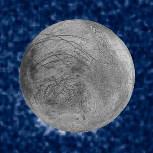 哈勃望远镜拍摄到的木卫二水汽喷流的画面。图片来源和:美国宇航局网站