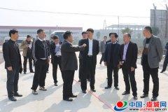 县委书记朱东亚调研我县重点项目和城建工作
