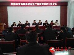 泌阳县食药监局召开保安全保稳定工作会议