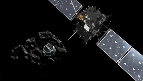 """欧洲航天中心的科学家们激动地期待着这一高潮的到来,紧张,激动,又有点悲伤,他们跟踪罗塞塔12年,眼睁睁地把它送上""""自杀之路""""。"""