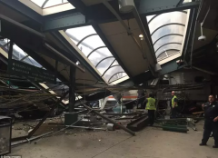 美国新泽西火车站早高峰发生脱轨事故致百余人伤亡