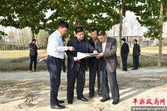 平舆县委常委、统战部部长代元辉就水环境治理工作进行现场办公