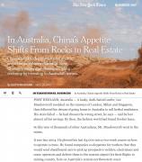 美媒称中国在澳大利亚弃矿买房:矿工改行去盖楼