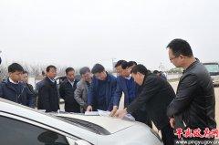 平舆县委书记张怀德、县长赵峰就水环境治理和生态修复工程现场办公