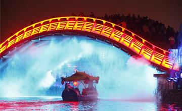 清明上河园推出大型梦幻夜游项目《大宋・汴河灯影》