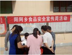 """阳阿乡党员积极发扬党员先进性 宣传""""舌尖上的安全"""""""