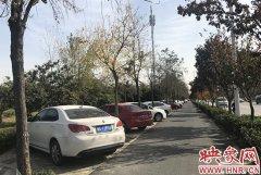 郑州一小区外人行道设80余停车位 停管中心:系违规车位