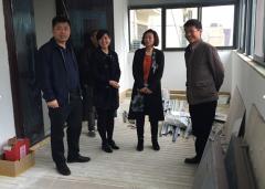 区民政局督导社区党群服务中心项目建设工作