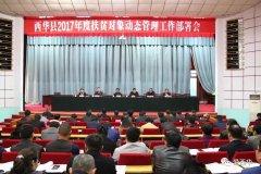 西华县召开2017年度扶贫对象动态管理工作部署会议
