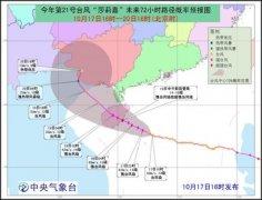 """台风周:""""莎莉嘉""""海南登陆 """"海马""""20日进入南海"""