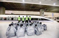 """郑州铁路局每天开行27趟高铁快运 双11包裹坐高铁""""闪电达"""""""