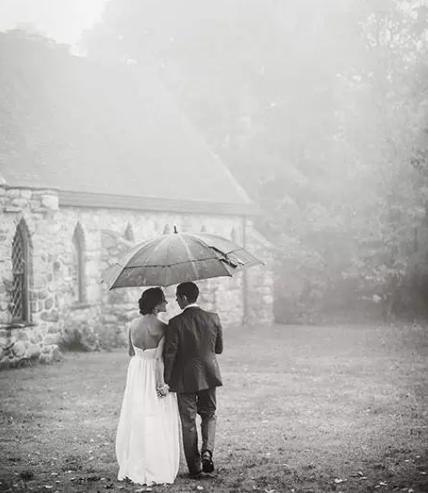 下雨能拍婚纱照吗 下雨天也能拍出唯美婚纱照