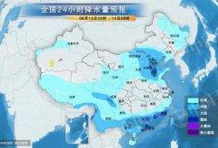 南方六省区迎暴雨 华黄淮北等地有雷暴大风